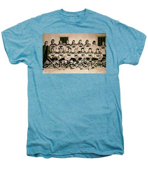 University Of Michigan Hockey Team 1947 Men's Premium T-Shirt by Mountain Dreams