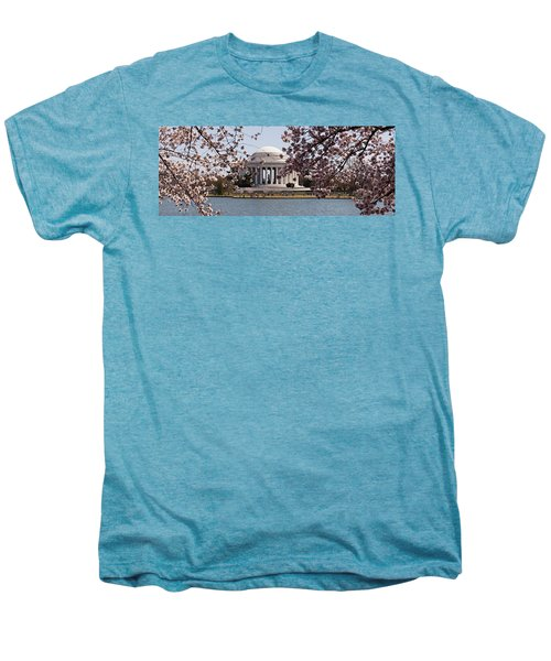 Cherry Blossom Trees In The Tidal Basin Men's Premium T-Shirt by Panoramic Images