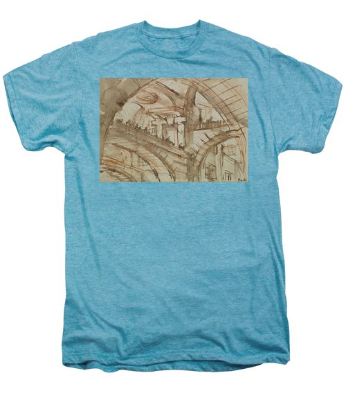 Drawing Of An Imaginary Prison Men's Premium T-Shirt by Giovanni Battista Piranesi