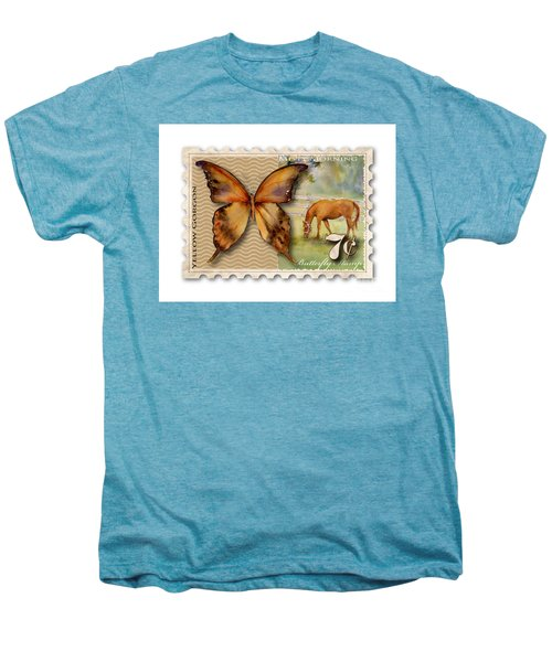 7 Cent Butterfly Stamp Men's Premium T-Shirt by Amy Kirkpatrick