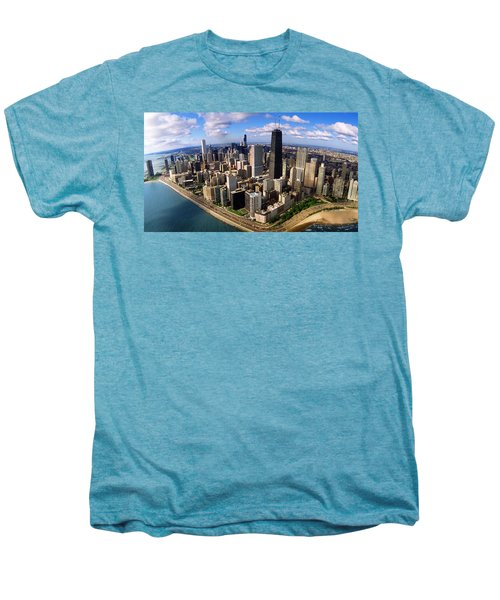 Chicago Il Men's Premium T-Shirt by Panoramic Images