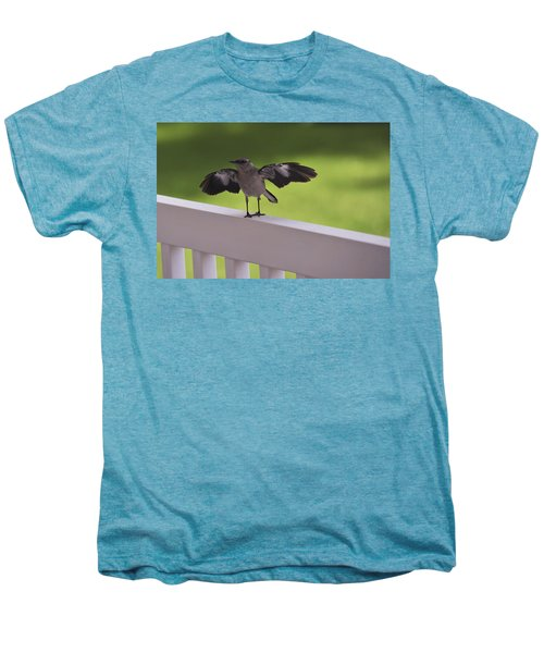 A Little Visitor Northern Mockingbird Men's Premium T-Shirt by Terry DeLuco