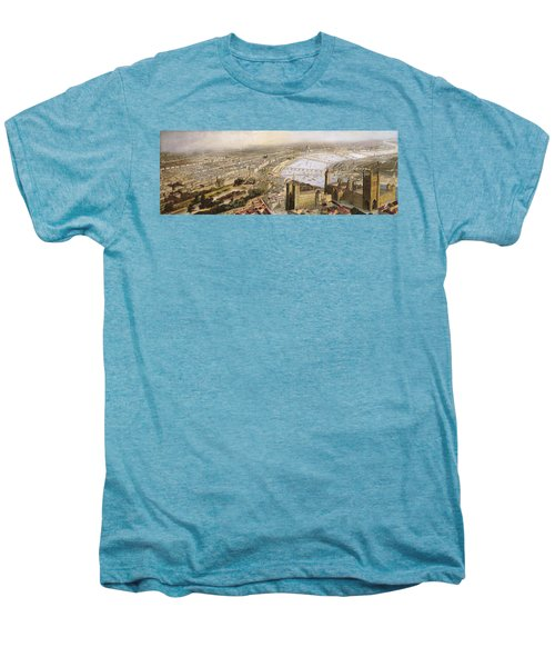 A Panoramic View Of London Men's Premium T-Shirt by English School