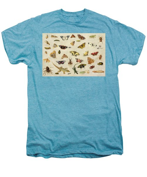 A Study Of Insects Men's Premium T-Shirt by Jan Van Kessel