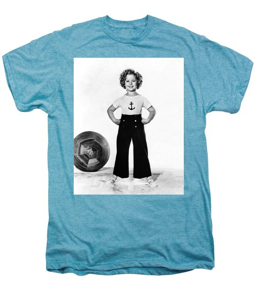 Actress Shirley Temple Men's Premium T-Shirt by Underwood Archives