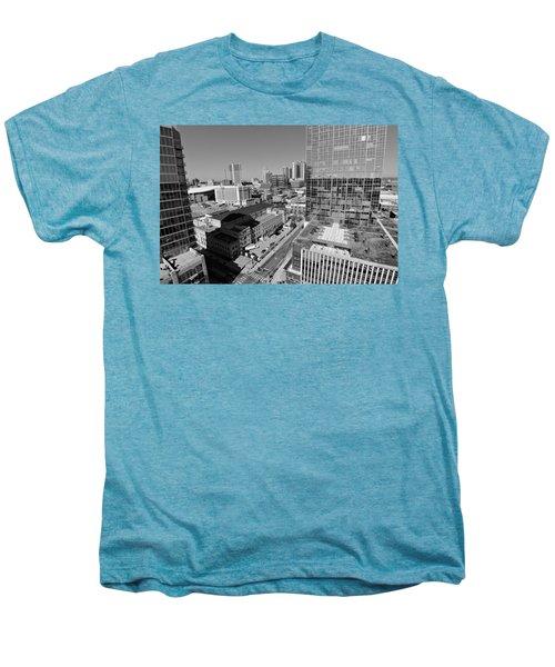 Aerial Photography Downtown Nashville Men's Premium T-Shirt by Dan Sproul
