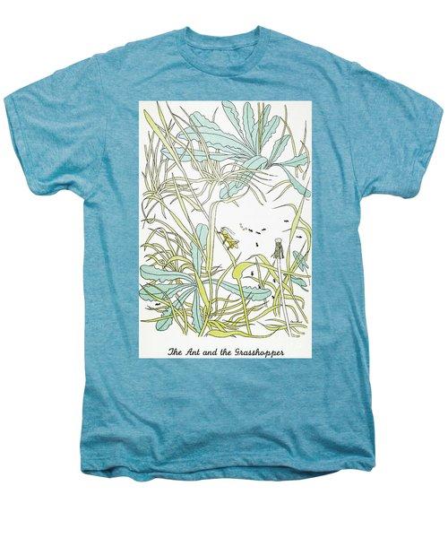 Aesop: Ant & Grasshopper Men's Premium T-Shirt by Granger