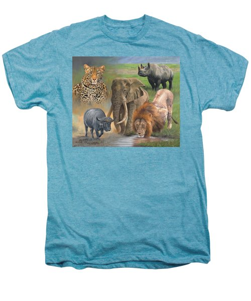 Africa's Big Five Men's Premium T-Shirt by David Stribbling