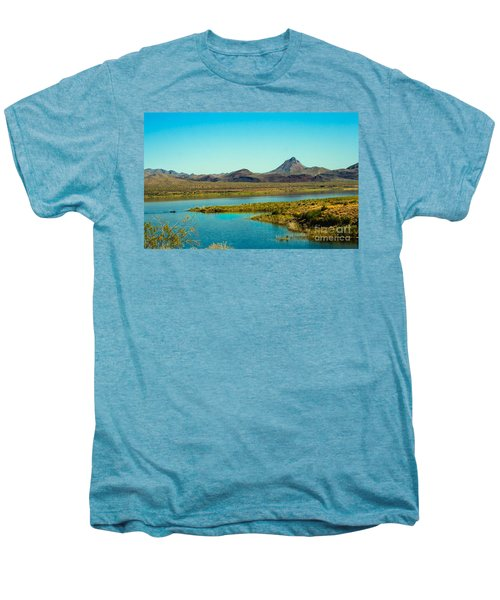 Alamo Lake Men's Premium T-Shirt by Robert Bales