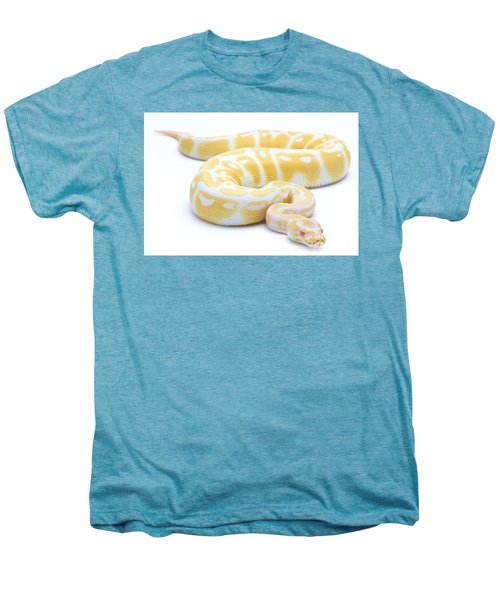Albino Royal Python Men's Premium T-Shirt by Michel Gunther