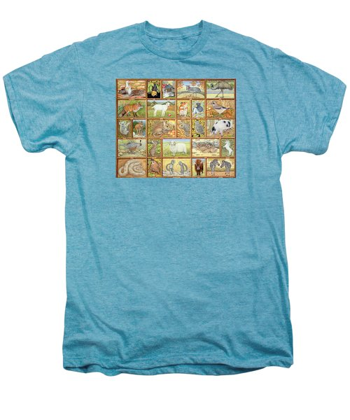 Alphabetical Animals Men's Premium T-Shirt by Ditz