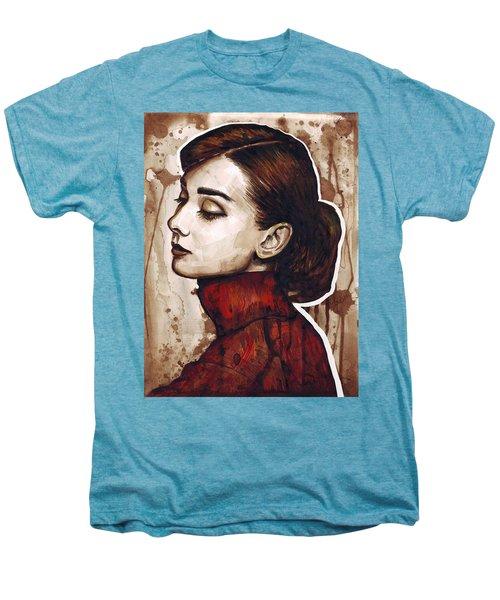 Audrey Hepburn Men's Premium T-Shirt by Olga Shvartsur