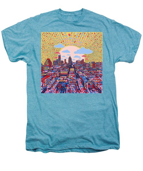 Austin Texas Abstract Panorama 2 Men's Premium T-Shirt by Bekim Art