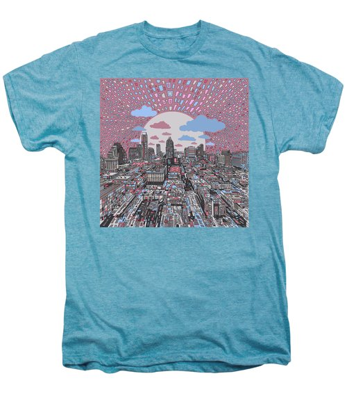 Austin Texas Abstract Panorama 3 Men's Premium T-Shirt by Bekim Art