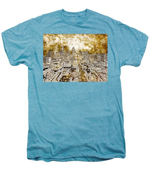 Austin Texas Abstract Panorama 6 Men's Premium T-Shirt by Bekim Art