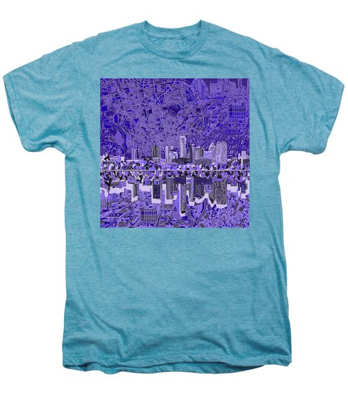Austin Texas Skyline 4 Men's Premium T-Shirt by Bekim Art