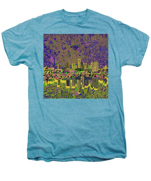 Austin Texas Skyline Men's Premium T-Shirt by Bekim Art