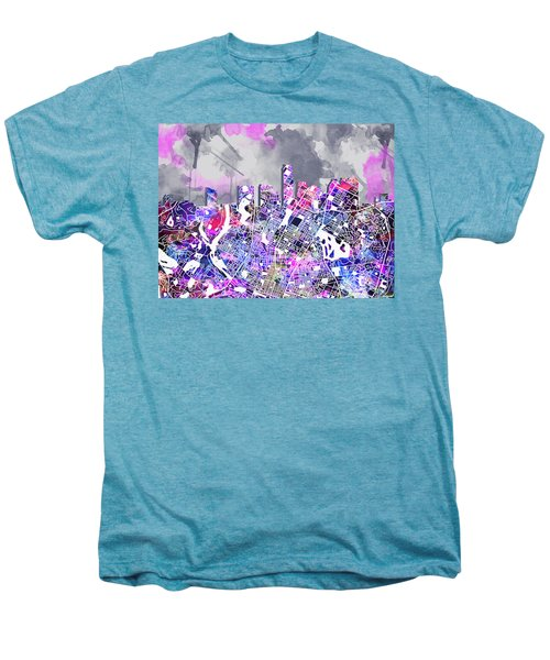 Austin Texas Watercolor Panorama2 Men's Premium T-Shirt by Bekim Art