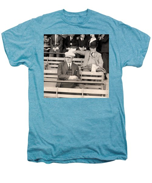 Babe Ruth In The Stands At Griffith Stadium 1922 Men's Premium T-Shirt by Mountain Dreams