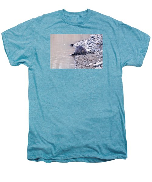 Beaver On Dry Land Men's Premium T-Shirt by Chris Flees