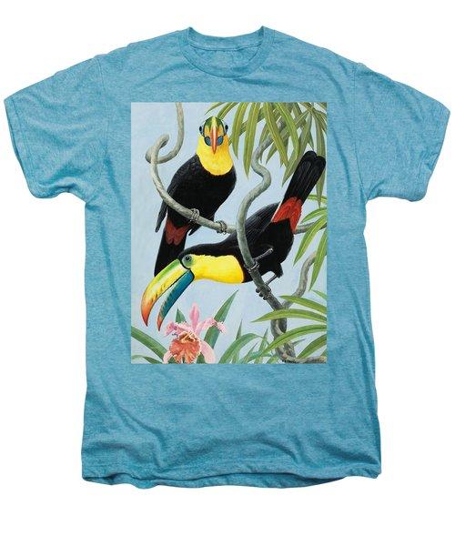 Big-beaked Birds Men's Premium T-Shirt by RB Davis