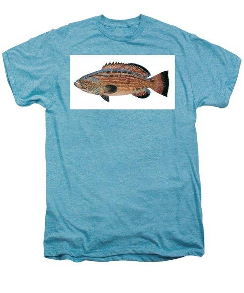 Black Grouper Men's Premium T-Shirt by Carey Chen