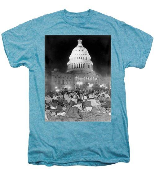 Bonus Army Sleeps At Capitol Men's Premium T-Shirt by Underwood Archives