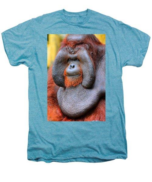 Bornean Orangutan Iv Men's Premium T-Shirt by Lourry Legarde
