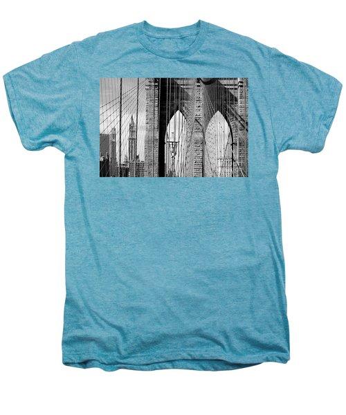 Brooklyn Bridge New York City Usa Men's Premium T-Shirt by Sabine Jacobs