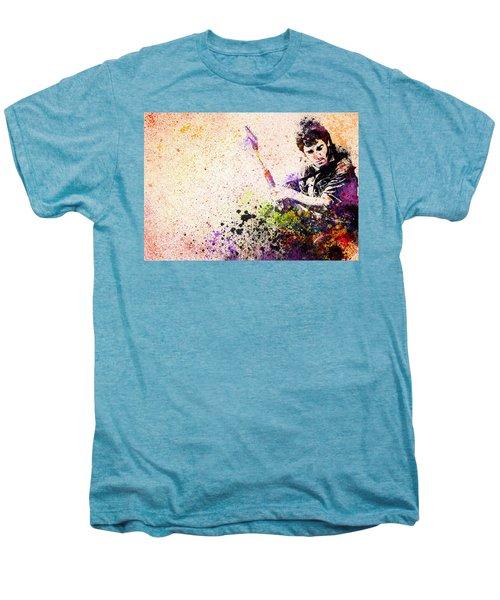 Bruce Springsteen Splats 2 Men's Premium T-Shirt by Bekim Art