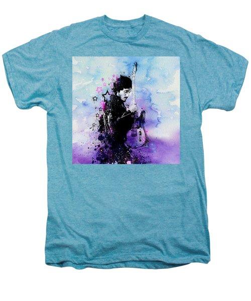 Bruce Springsteen Splats And Guitar 2 Men's Premium T-Shirt by Bekim Art