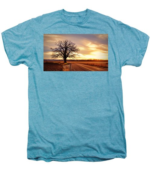 Burr Oak Silhouette Men's Premium T-Shirt by Cricket Hackmann