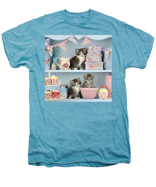 Baking Shelf Kittens Men's Premium T-Shirt by Greg Cuddiford