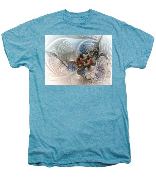 Cloud Cuckoo Land-fractal Art Men's Premium T-Shirt by Karin Kuhlmann