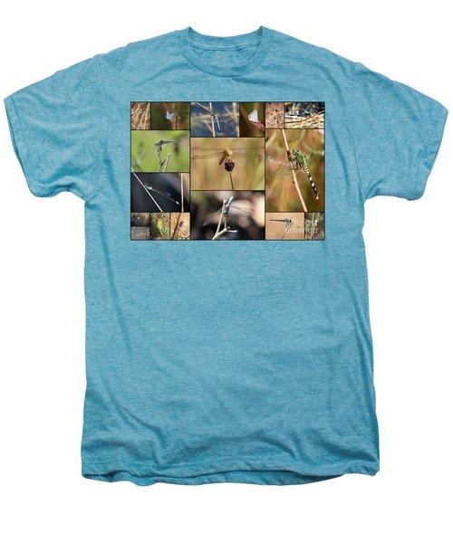 Collage Marsh Life Men's Premium T-Shirt by Carol Groenen