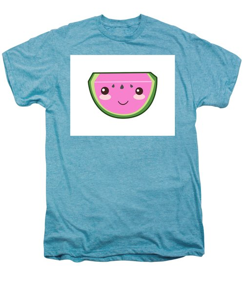 Cute Watermelon Illustration Men's Premium T-Shirt by Pati Photography