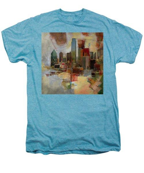 Dallas Skyline 003 Men's Premium T-Shirt by Corporate Art Task Force