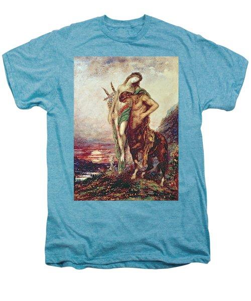 Dead Poet Borne By Centaur Men's Premium T-Shirt by Gustave Moreau