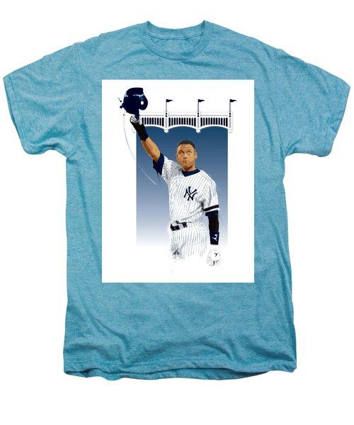 Derek Jeter 3000 Hits Men's Premium T-Shirt by Scott Weigner