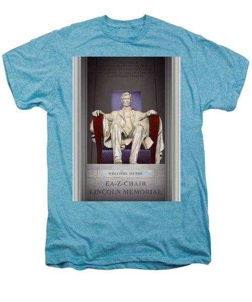 Ea-z-chair Lincoln Memorial 2 Men's Premium T-Shirt by Mike McGlothlen