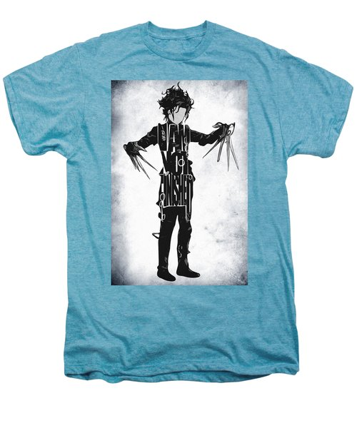 Edward Scissorhands - Johnny Depp Men's Premium T-Shirt by Ayse Deniz