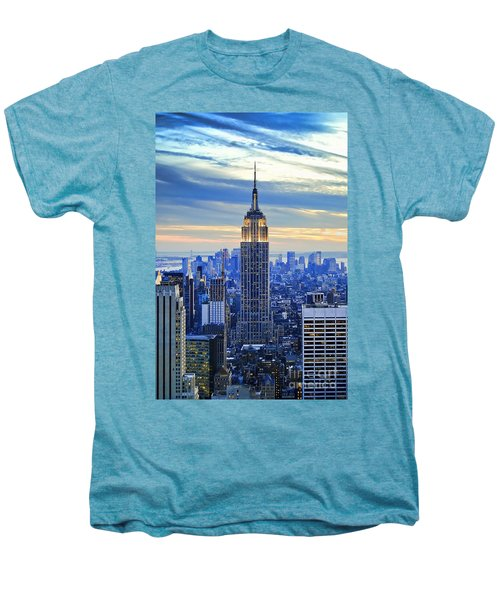 Empire State Building New York City Usa Men's Premium T-Shirt by Sabine Jacobs