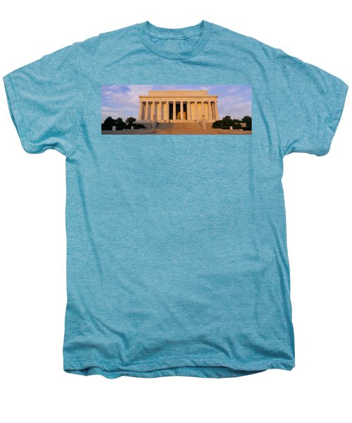 Facade Of A Memorial Building, Lincoln Men's Premium T-Shirt by Panoramic Images