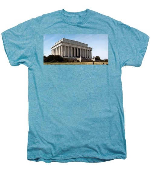 Facade Of The Lincoln Memorial, The Men's Premium T-Shirt by Panoramic Images
