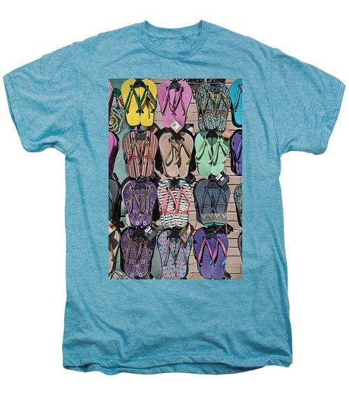 Flip Flops Men's Premium T-Shirt by Peter Tellone