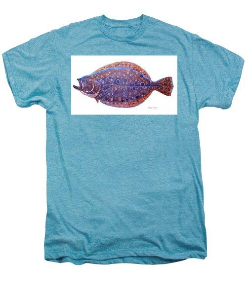 Flounder Men's Premium T-Shirt by Carey Chen