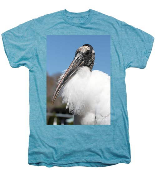 Fluffy Wood Stork Men's Premium T-Shirt by Carol Groenen