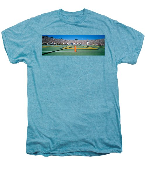 Football Game, University Of Michigan Men's Premium T-Shirt by Panoramic Images