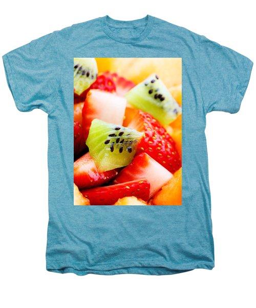 Fruit Salad Macro Men's Premium T-Shirt by Johan Swanepoel