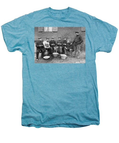 Germans Peeling Potatoes Men's Premium T-Shirt by Underwood Archives